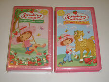 Strawberry Shortcake VHS VIDEO Lot of 2 Get Well Adventure Spring for Strawberry