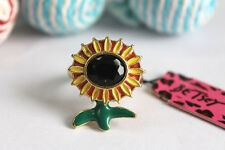 R279 Betsey Johnson Yellow SunFlower Sun Flower Garden Band Ring  US