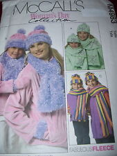 McCALL'S #M4983 - MOTHER & DAUGHTER ( GREAT FOR FLEECE ) JACKET-SCARF PATTERN uc
