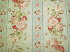 Cottage Shabby Chic Fabric Mary Rose 2140Y-12C, Large Scale Floral Stripe BTY