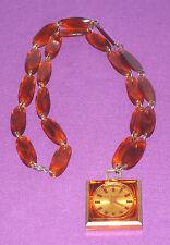 Vintage Raras señoras Old England Suizo Raro Collar Reloj Mecánico cerrar VGC