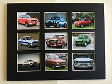 """FORD ESCORT MK1 RETRO POSTERS 14"""" BY 11"""" PICTURE MOUNTED READY TO FRAME"""