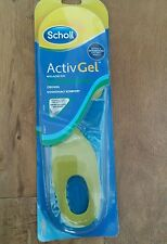Scholl Activ Gel Everday Insoles Mens ..Size 8-13...Free Same Day Delivery.