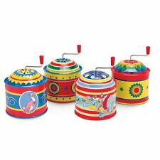 Traditional Tin Music Box Classic Wind up Vintage Style Music Box Toy
