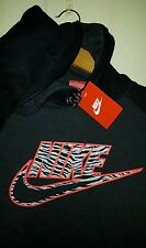 Nike Big Infrared & Elephant Print Logo Pullover Hoodie: Small (NWT) 641582