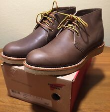 Red Wing Shoes 8596 Dark Chocolate  Chukka Boots USA 7 D Lace Keeper 100 YR
