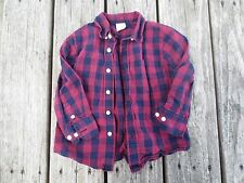 Crewcuts ~ Boys Blue and Red Plaid Shirt ~ Size 2T