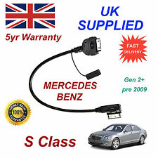 Mercedes Benz S CLASS MMI Gen 2G Pre 2009 iPhone 3GS 4 4S iPod Audio Cable long