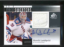 HENRIK LUNDQVIST 2011/12 SP GAME USED INKED SWEATERS JERSEY AUTO #/50 H1359