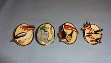 Collectable Set Of 4 Guinness Gilroy Pin Badges - Toucans,Pelican & Elephant