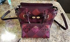 Coach Blake 25 Swagger Metallic Patchwork Leather Satchel 55666 matching wallet