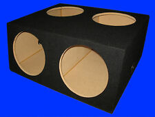 "4 FOUR HOLE 12"" COMPACT BLACK SUBWOOFER SUB SPEAKER ENCLOSURE BOX"