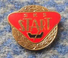 START LODZ POLAND BASKETBALL FOOTBALL CYCLING CHESS RUGBY 1970's  PIN BADGE