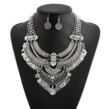 Women Pendant Chain Infinity Choker Chunky Statement Bib Necklace Jewelry Charm