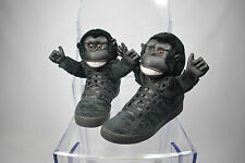 Men's 2011 Adidas Jeremy Scott Gorilla Negro Zapatillas Size UK 9