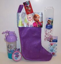 Disney FROZEN Elsa Anna CHRISTMAS STOCKING & Hair Clips Necklace Bracelet Cup