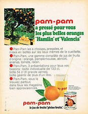 PUBLICITE ADVERTISING 104  1966  PAM-PAM   jus de fruits ORANGE