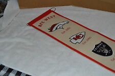 AFC West NFL 8x32 Embroidered Wool Banner 1960 Colts Chiefs Raiders Chargers