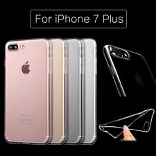 Ultra Thin Clear Crystal Rubber TPU Soft Back Case Cover For Apple iPhone 7 Plus