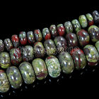 Natural African Blood Stone Rondelle Heart Rectangle Loose Beads 6mm 8mm 10mm