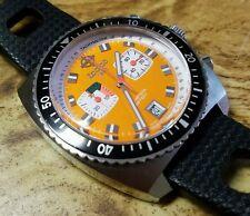 Zodiac Sea Dragon Chronograph Blaze Orange ZO2209 1882 Swiss Watch Seadragon