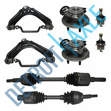 Upper Control Arm & Ball Joint 2 CV Axles Wheel Hub Bearing ABS Lower Ball Joint