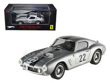 FERRARI 250 GT BERLINETTA SWB #22 SILVER ELITE 1/43 MODEL CAR BY HOTWHEELS P9959