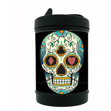 Black Metal Car Ashtray Skull Design-016 Sugar Skull Day of the Dead