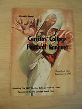 "1967 PROGRAM~Annual ""CERRITOS COLLEGE FOOTBALL BANQUET""~Disneyland Hotel~"