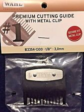 "WHAL PREMIUM CUTTING GUIDE WITH  NON SLIP METAL CLIP # 1 1/8"" 3,MM # 3354-1300"