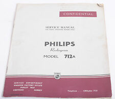 VINTAGE SERVICE MANUAL - PHILIPS 712a  RADIOGRAM