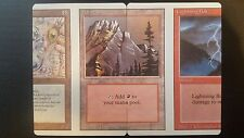 Lightning Bolt Mountain Living Wall miscut mtg Magic the Gathering Revised