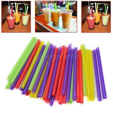 Jumbo Individually Bubble Boba Tea Fat Straws Party Smoothies Drink 100 Pcs