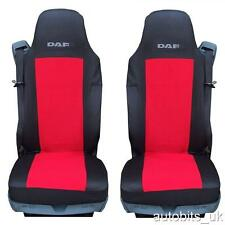 NEW QUALITY RED TAILORED SEAT COVERS FOR DAF CF LF XF105 XF 105