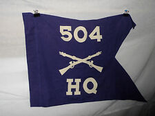 flag218  WW2 US Army Guide on 504 Parachute Infantry Regiment PIR Company HQ