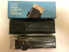 Lumagny 30x illuminated Pocket Microscope MODEL: 7520 stamp/coin collectors