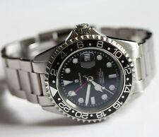 STEINHART GMT OCEAN 1 BLACK GMT Automatik Taucheruhr Edelstahl Diver
