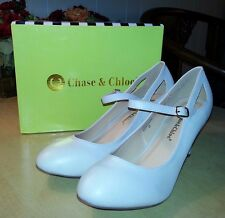 Chase & Chloe Kimmy-40 Women US Size 10 Nude Mary Jane Round Toe Pumps NWT Shoes