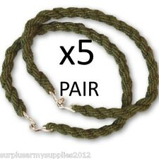 5 PAIRS ARMY TROUSER TWISTERS MTP GREEN TWISTS TWISTIES HIKING CADET SOLDIER