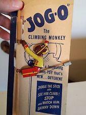 "1930's Tin Toy-Climbing Monkey ""Jiggle Stick"" JOG-O ""Near Mint"" on CARD m/i(USA)"