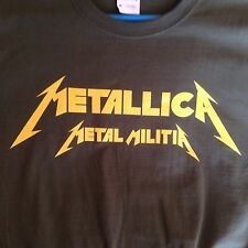 METALLICA Metal Militia Shirt. Rare. Kill 'Em All Fan Club Member. 1984 New