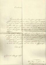 Ducato di Lucca Lettera al Consigliere di Stato Sussidio per Staffiere Arcivesc.