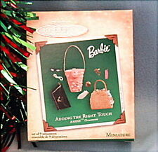 New 2004 Hallmark BARBIE 9 Piece Miniature Ornament Set ADDING THE RIGHT TOUCH