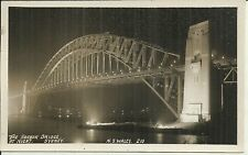 THE HARBOUR BRIDGE SYDNEY  AT NIGHT PHOTO POSTCARD