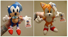 Sonic the Hedgehog - Sonic & Tails Sailor navy 2x plush set Sega 1994 Japan RARE