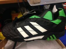 ADIDAS  quito team  5.5   UK  AT £10 BLACK /GREEN ASTRO  MAN MADE LEATHER