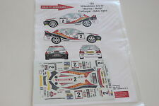 DECALS 1/43 MITSUBISHI LANCER EVO IV 4 BURNS RALLYE RAC 1997 RALLY GREAT BRITAIN