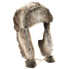 Faux Fur Russian Style Brown Trapper Hat (Brown, One Size)