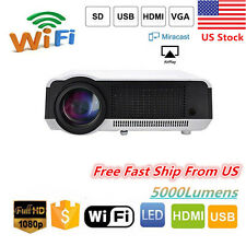 5000LUMENS WIFI ANDROID LED LCD HD 1080P TV HOME THEATER PROJECTOR HDMI USB VGA