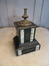 Antique French decorative marble bronze stand